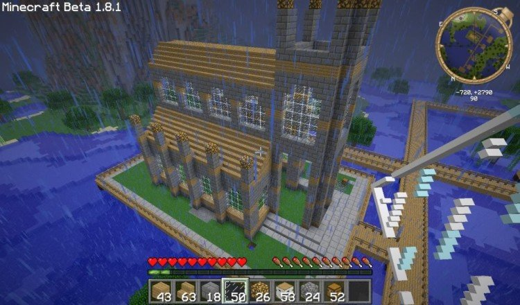 How to build a Minecraft church 06