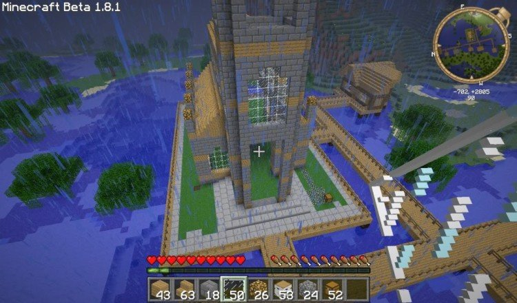 How to build a Minecraft church 07