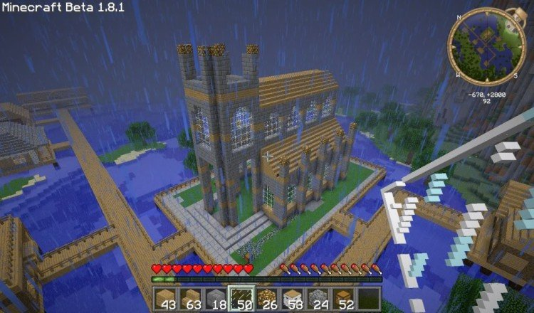How to build a Minecraft church 08
