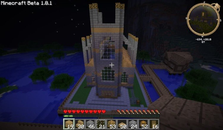 How to build a Minecraft church 11