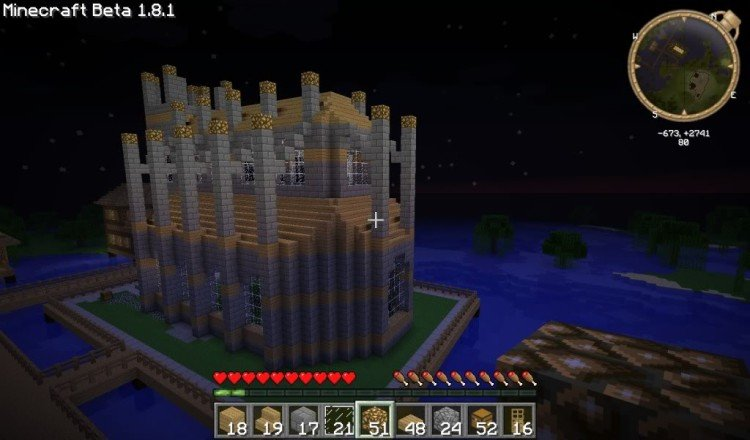How to build a Minecraft church 17