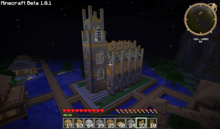 How to build a Minecraft church 20