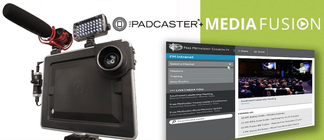 Padcaster + Media Fusion = Easy Church Streaming