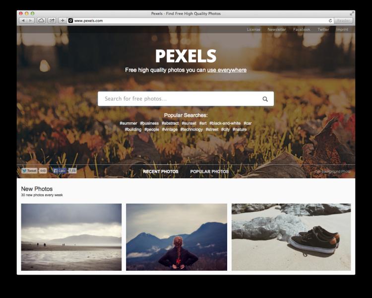 Pexel Screenshot