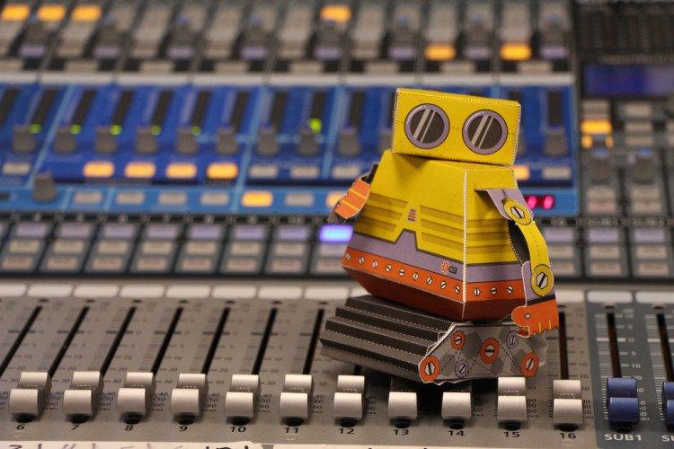 cool robot on soundboard
