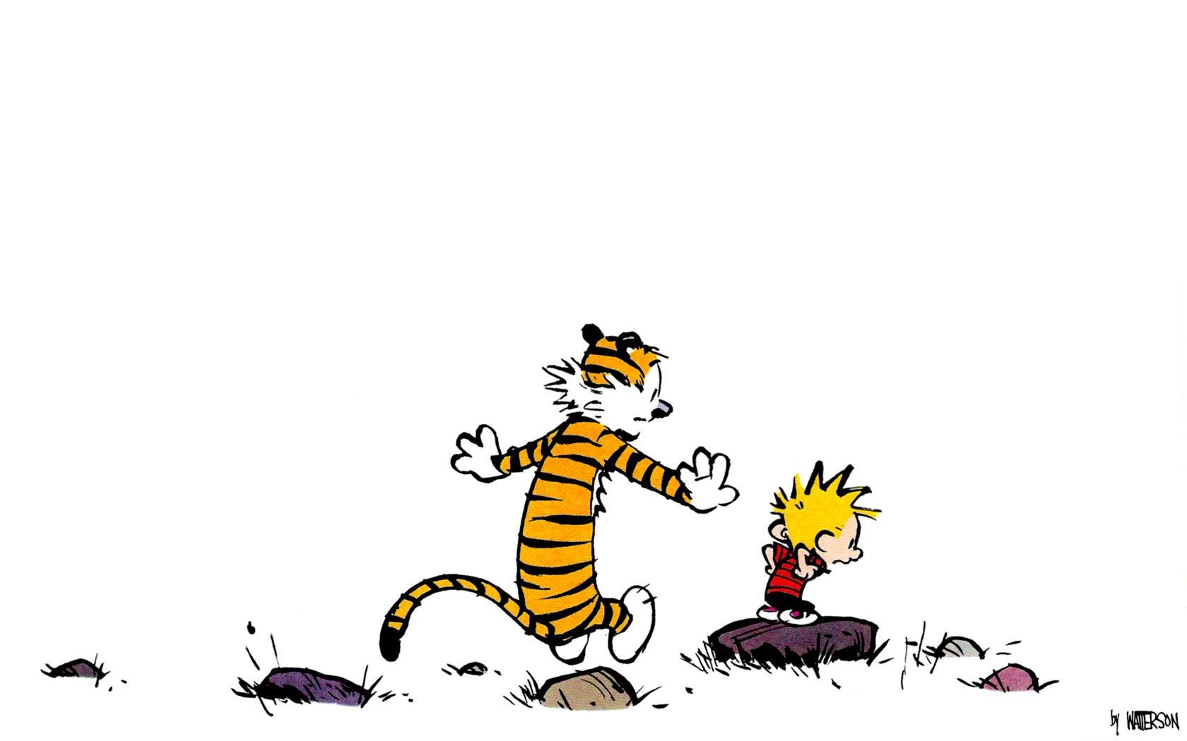 Calvin and Hobbes: All Grown Up [Street Art]