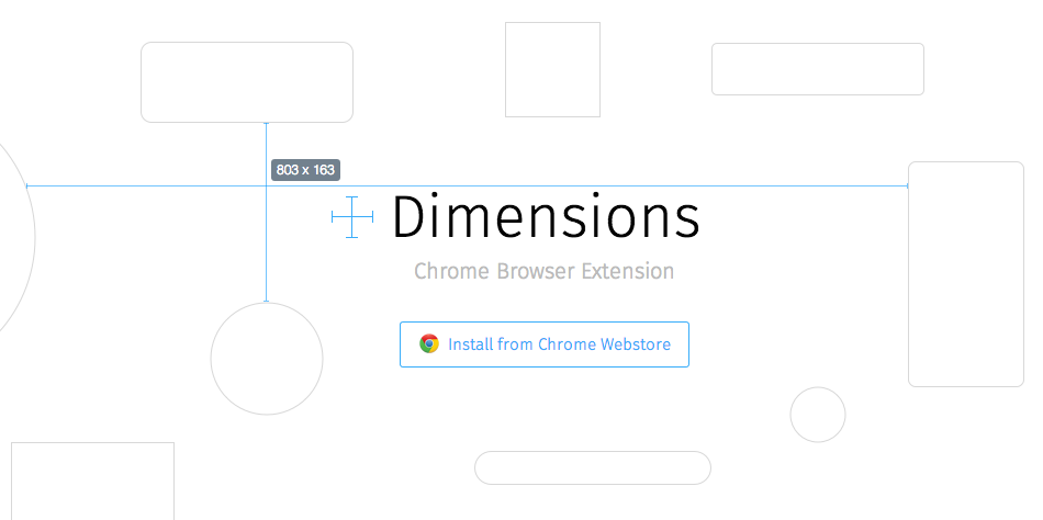 Dimensions — A Chrome Browser Extension
