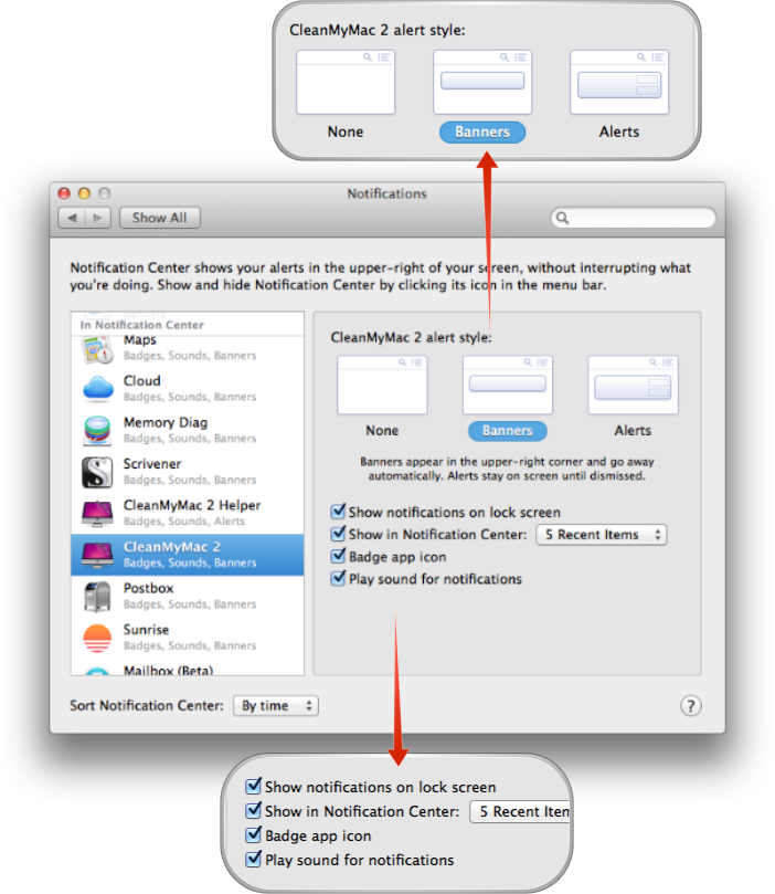 mac os how to change notification centre sound