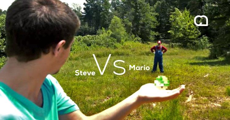 Minecraft vs Mario