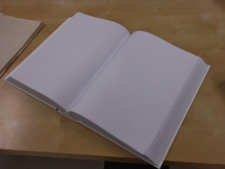 A clean slate - blank book