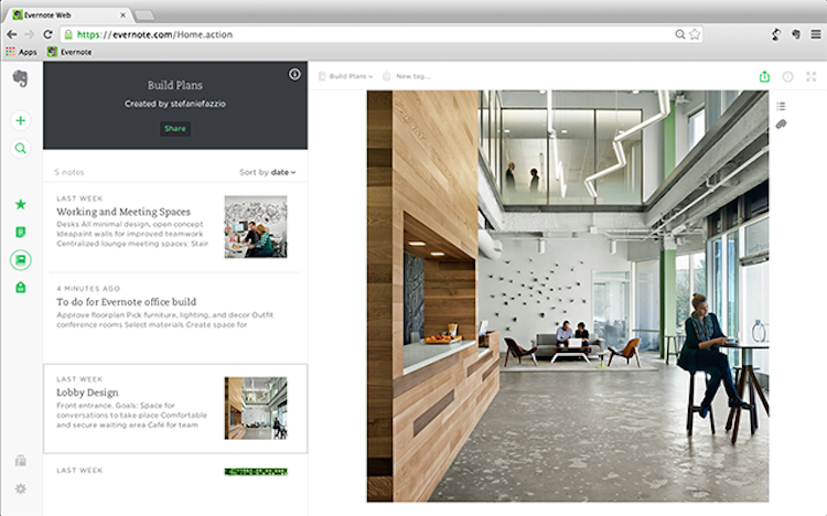The New Evernote Web UX Melts Your Face Off