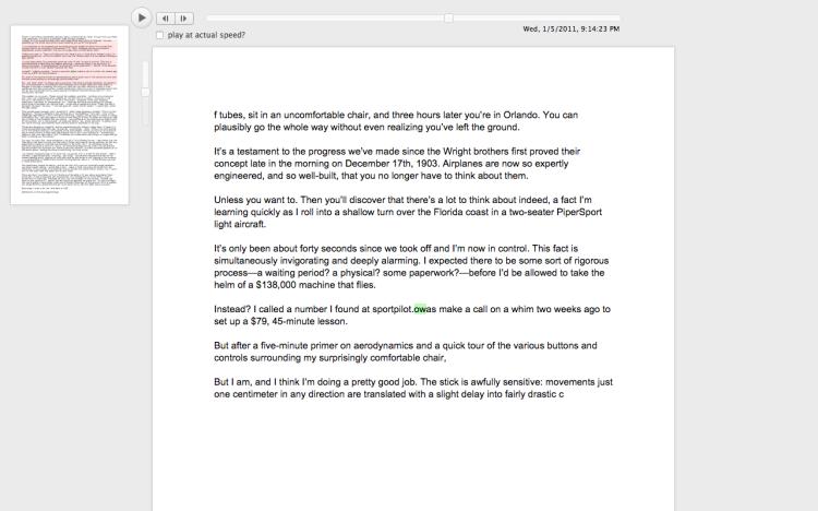 Draftback Chrome extension 2