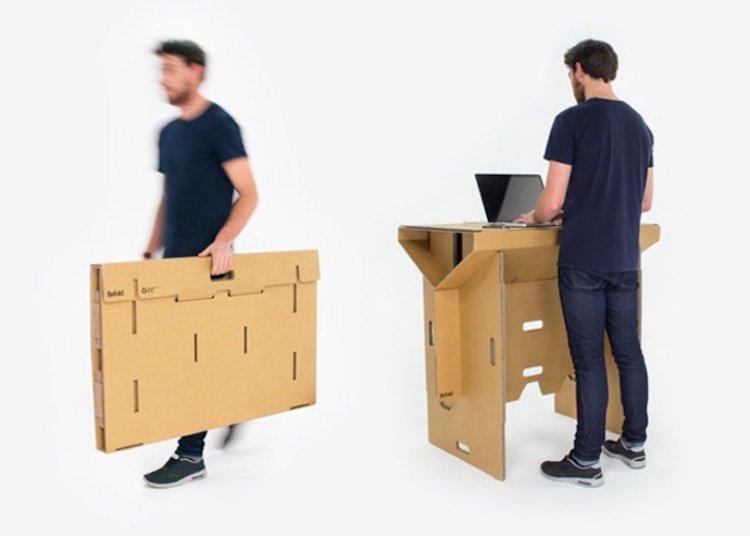 Refold: Portable Cardboard Standing Desk