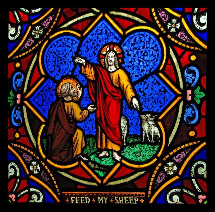 stainedglassed jesus