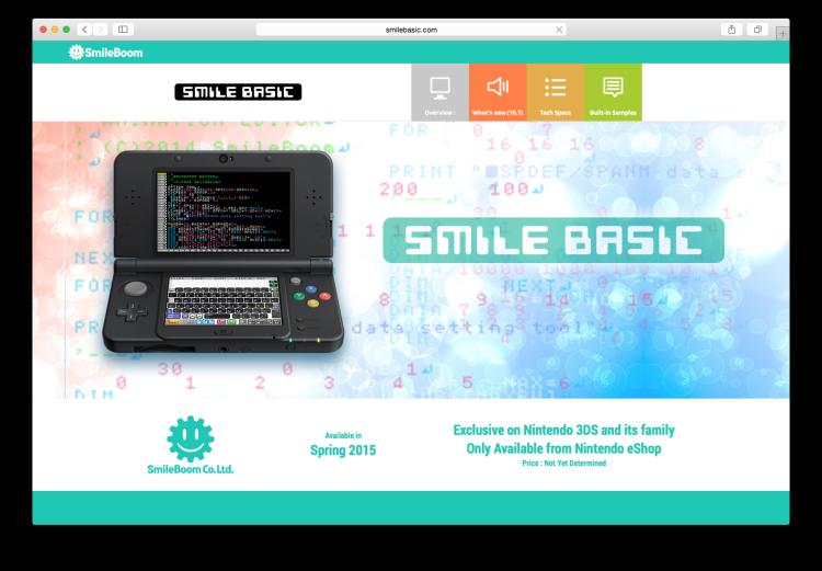 SmileBasic nintedo 3ds computer programing learning game