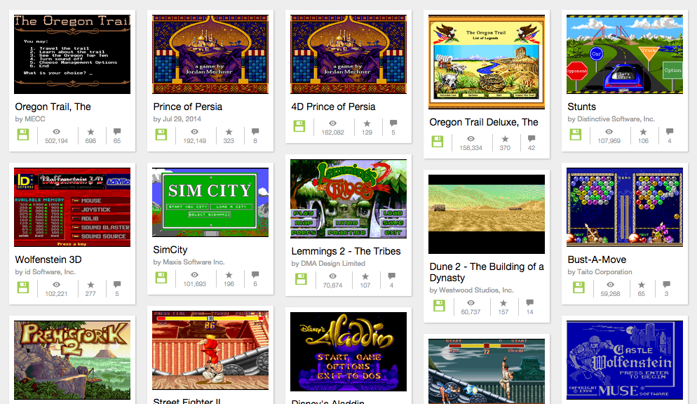 2,000+ MS-DOS Games Online!