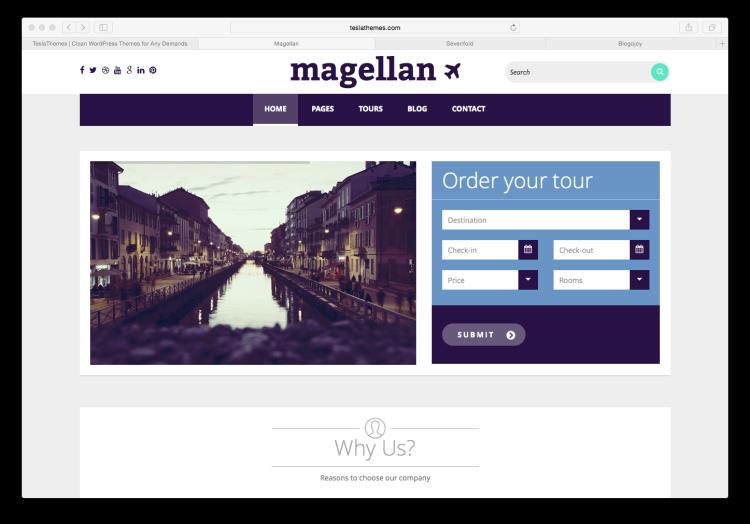Teslathemes Magellan Screenshoot
