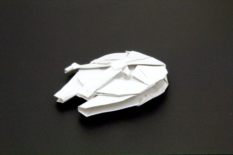 How to Make the Millennium Falcon in Origami [Infographic ... - photo#4