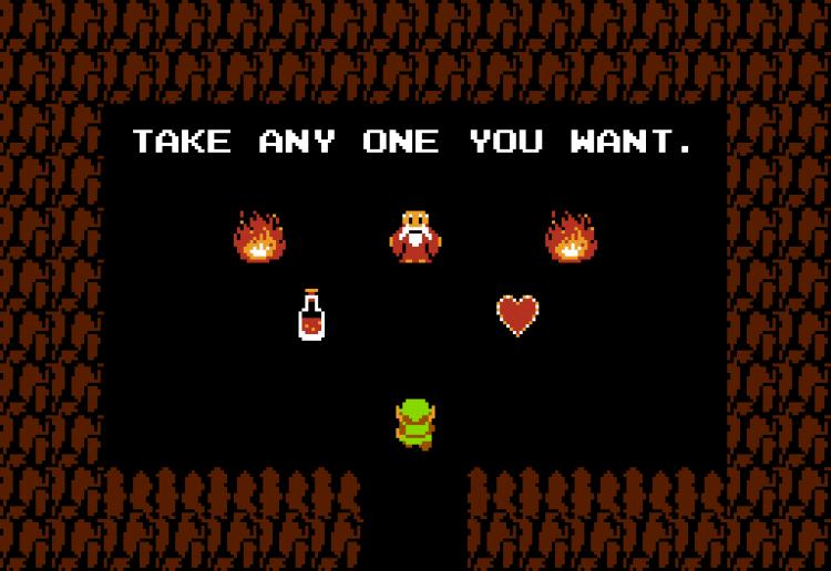 Zelda Link 8-bit Screen