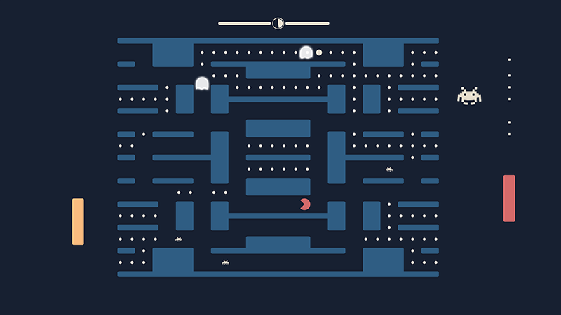 Pong + Pacman + Space Invaders