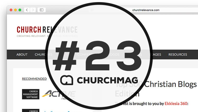 Listed #23 of Top 300 Christian Blogs for Ministry