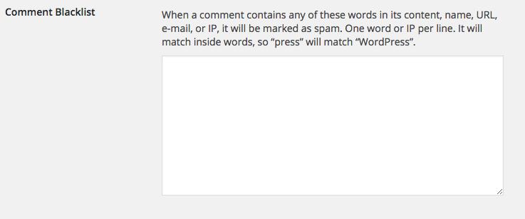 Wordpress Blacklist