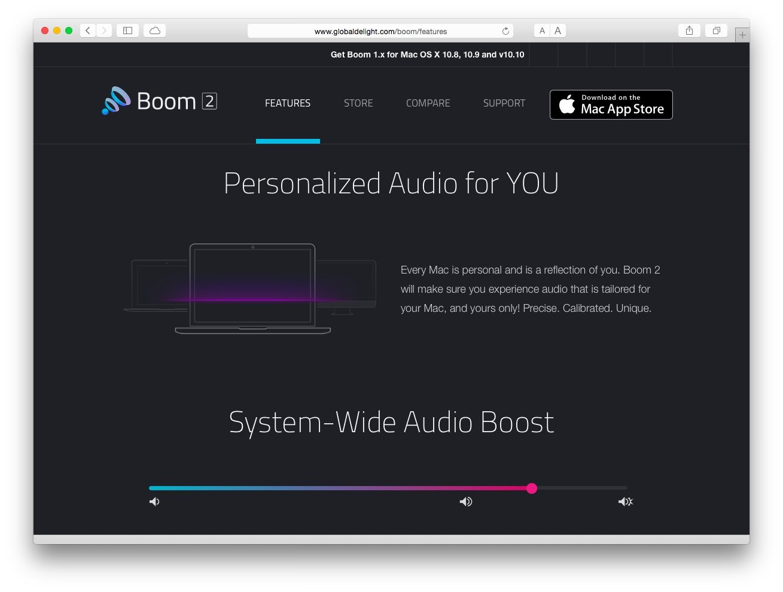 Boom 2 — Make your Mac Sound Amazing!