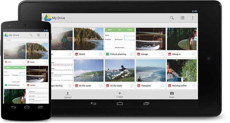 Google Drive Screens