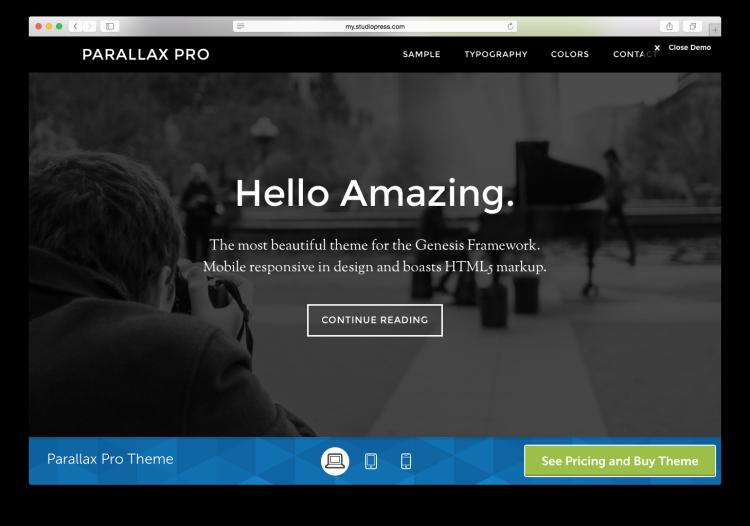 StudioPress Screen