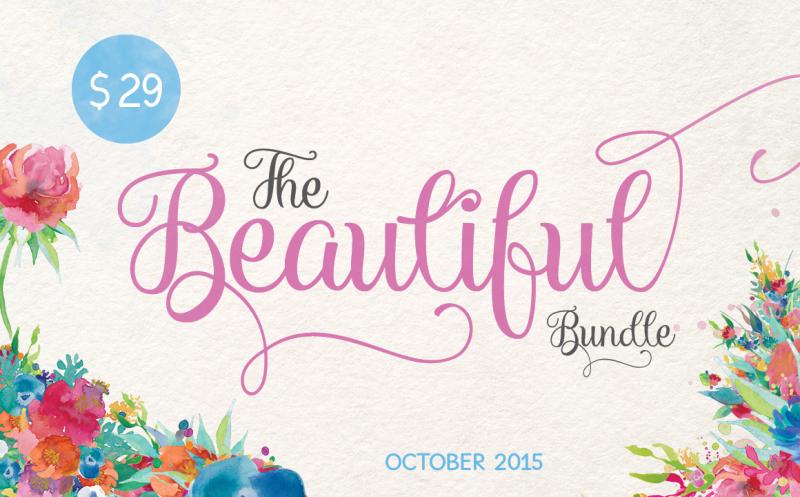 The Hungry JPEG: Beautiful October Bundle