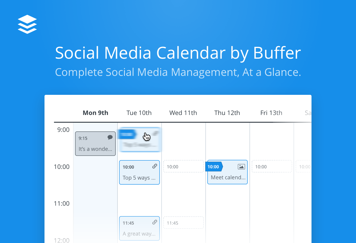 Buffer Adds Social Media Calendar