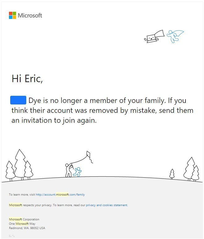 Microsoft Email Screenshot