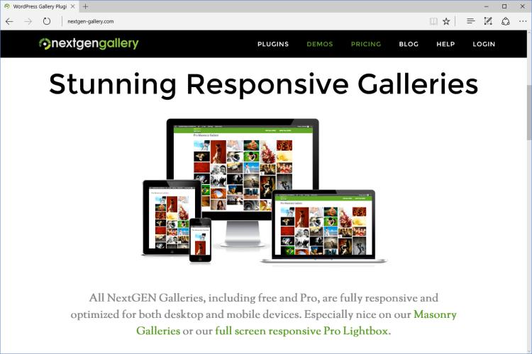 NextGEN Gallery Screenshot