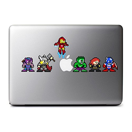 8bit superhero macbook decal