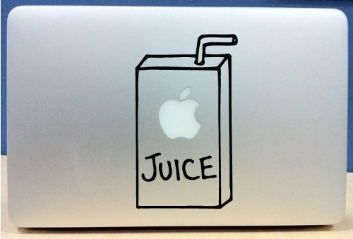macbook decal apple juice box