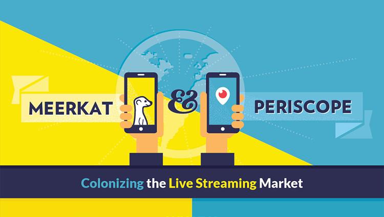Meerkat vs Periscope [Infographic]