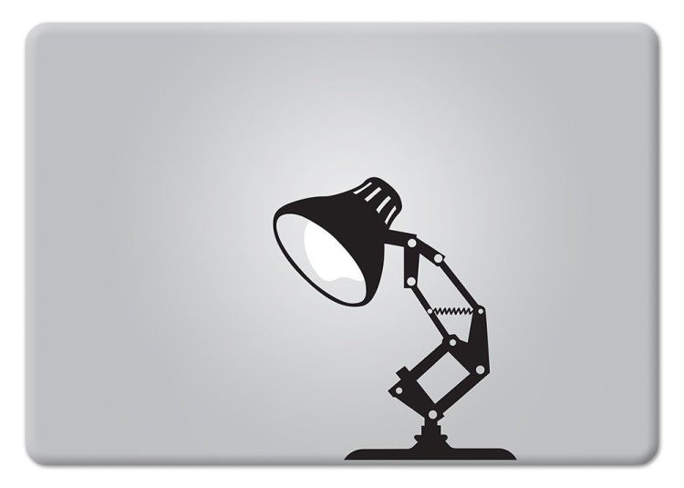 pixar lamp macbook decal