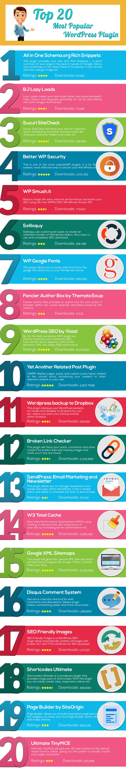 Top 20 WordPress Plugins [Infographic]