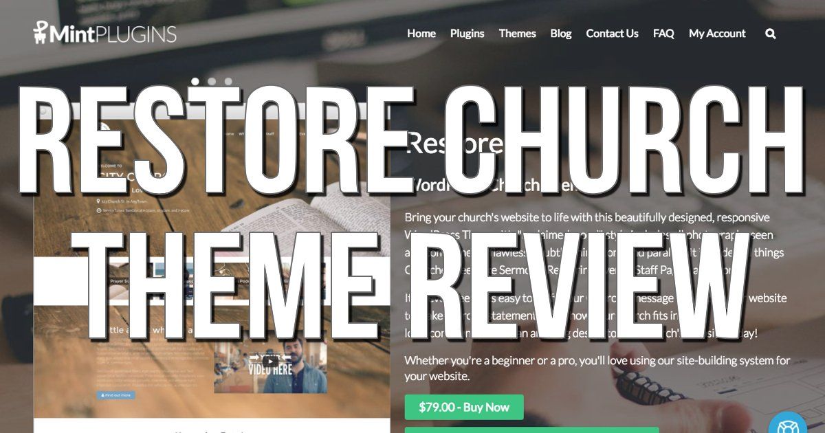 Restore Church: Build Your Site Brick by Brick [Review]