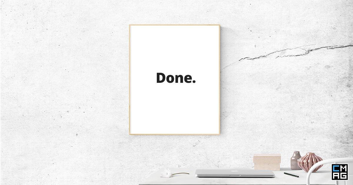"Make a ""Done"" List"