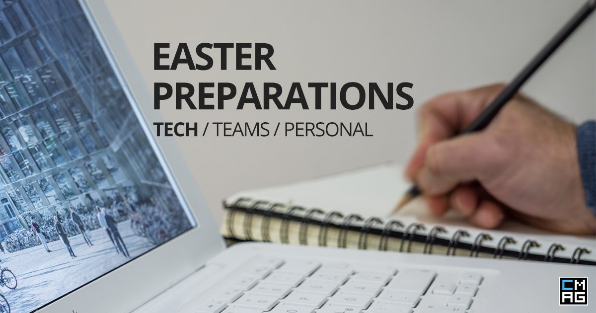 Easter Preparations: Church Tech