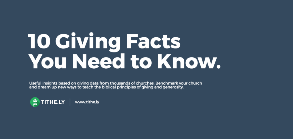 10 Church Giving Facts You Absolutely Need to Know