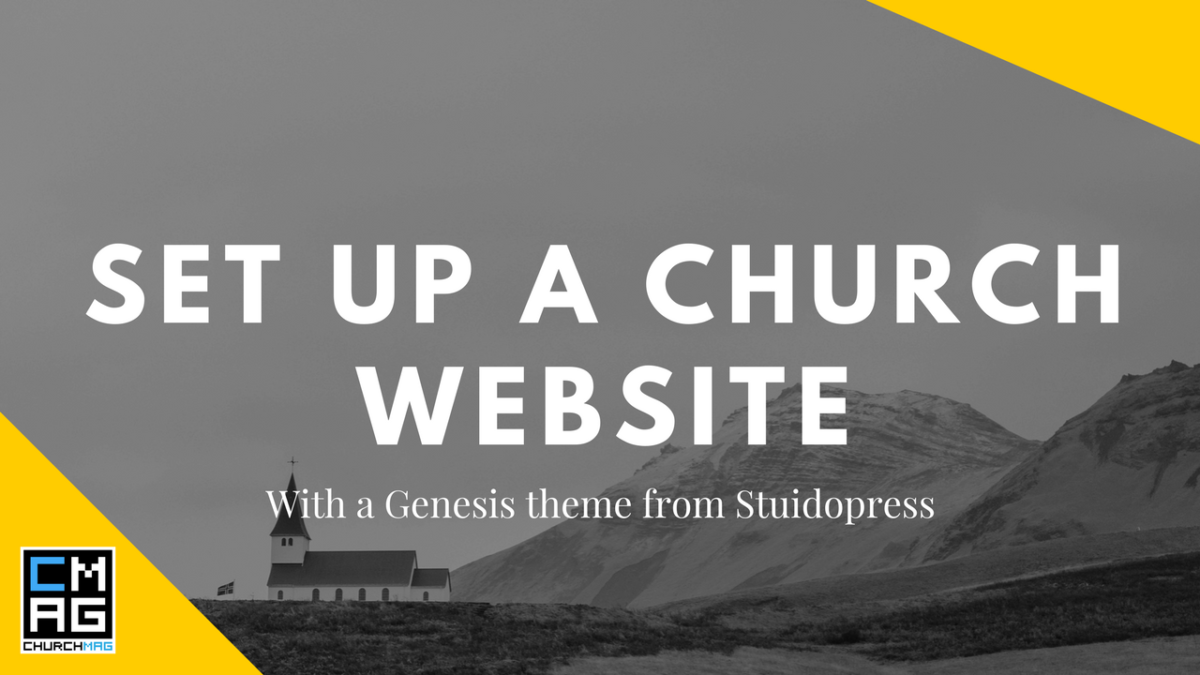 Set up a church website with genesis from studiopress