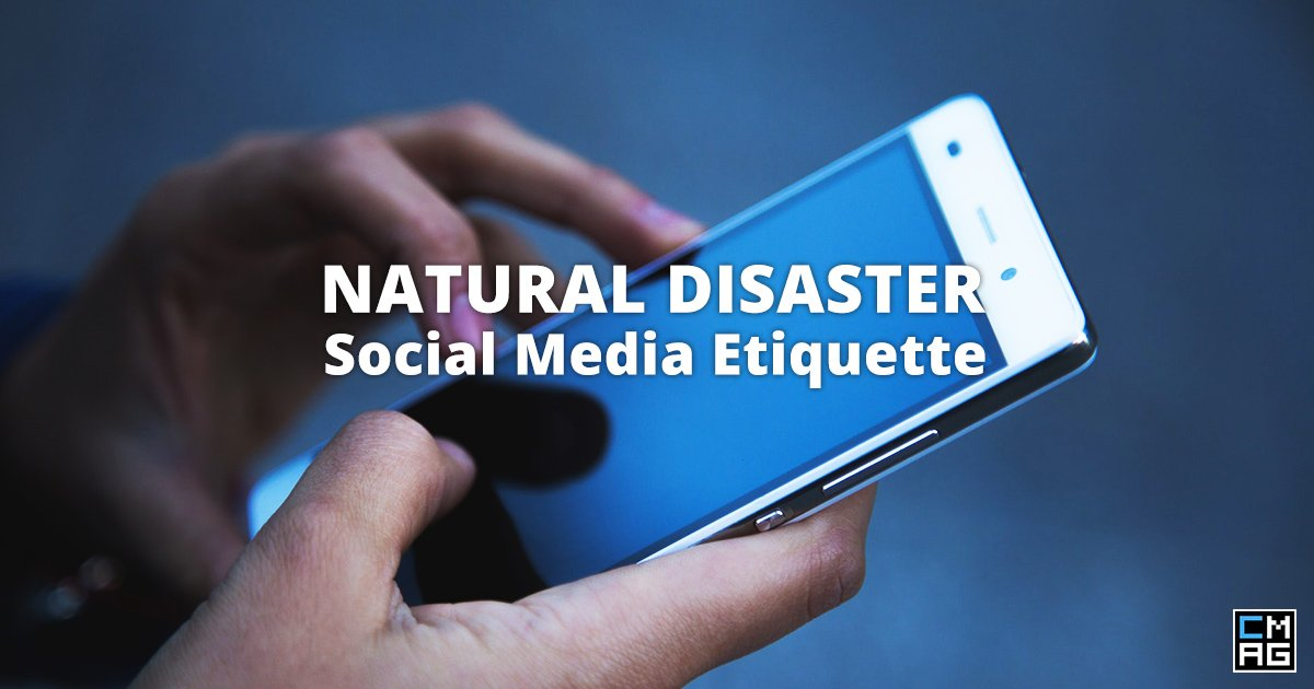 Natural Disaster Social Media Etiquette