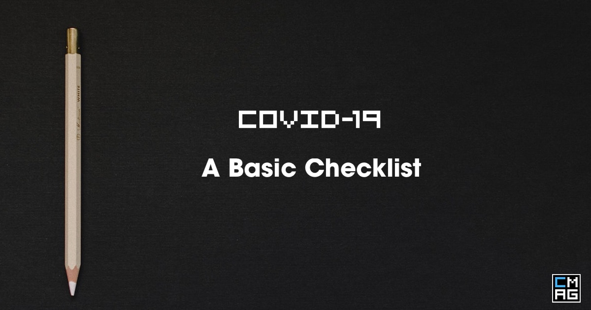 A Very Basic Church COVID19 Response Checklist_