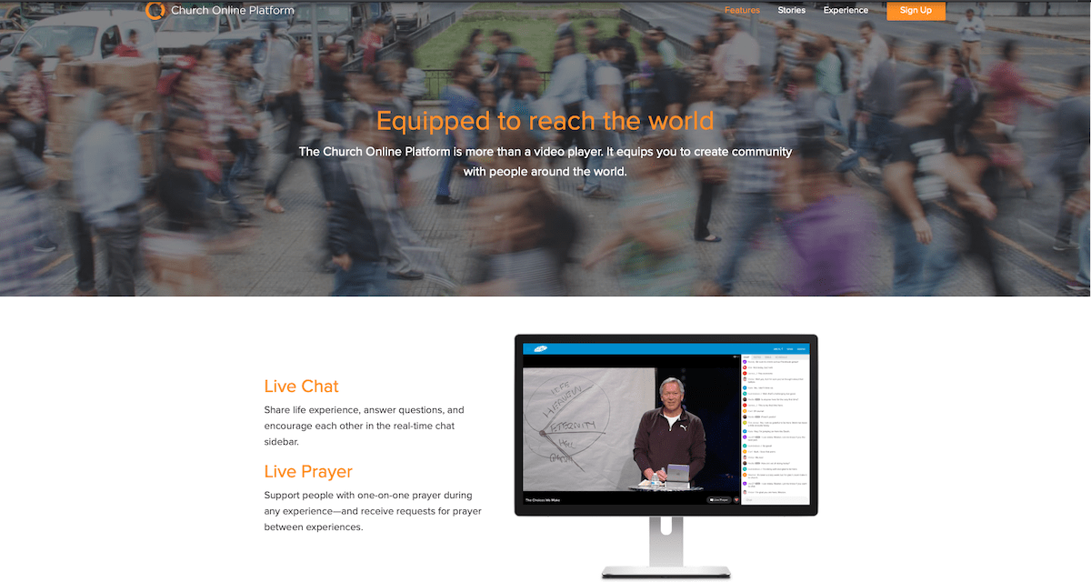 Church Online Platform Site Screenshot