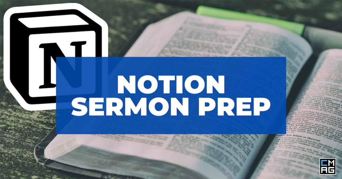 Tracking Your Sermons With Notion