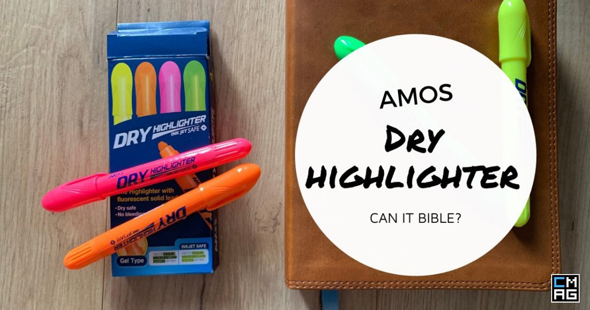 AMOS Dry Highlighters Bible Pen Review
